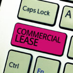 Commercial Lease text on red keyboard key