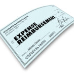 Expense reimbursement check for employee expenses